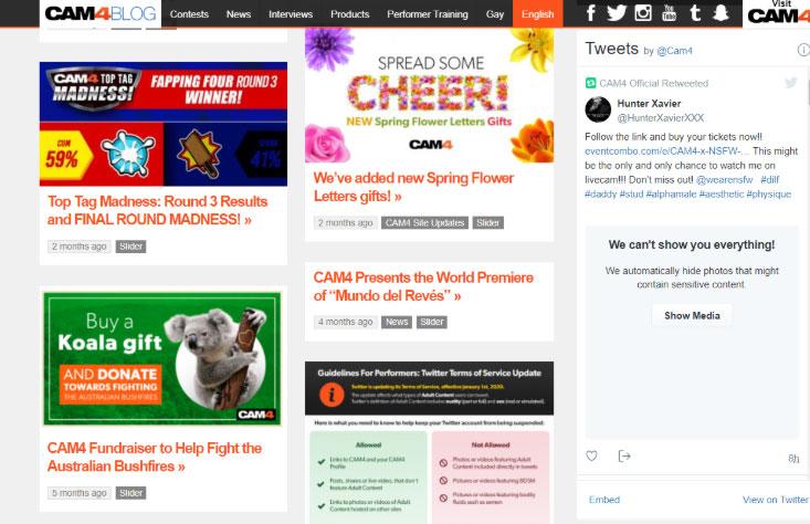 CAM4 blog